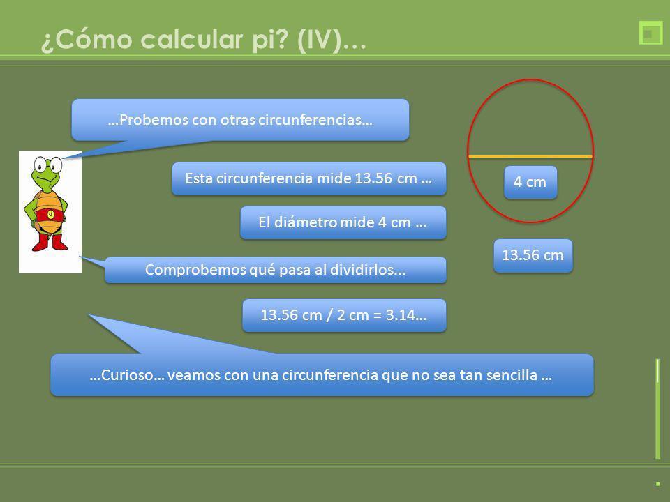 ¿Cómo calcular pi (IV)…