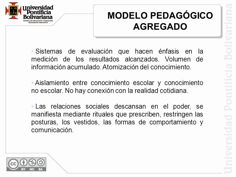 MODELO PEDAGÓGICO AGREGADO