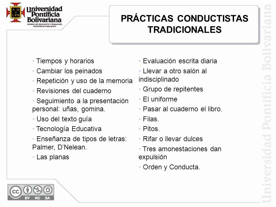 PRÁCTICAS CONDUCTISTAS TRADICIONALES