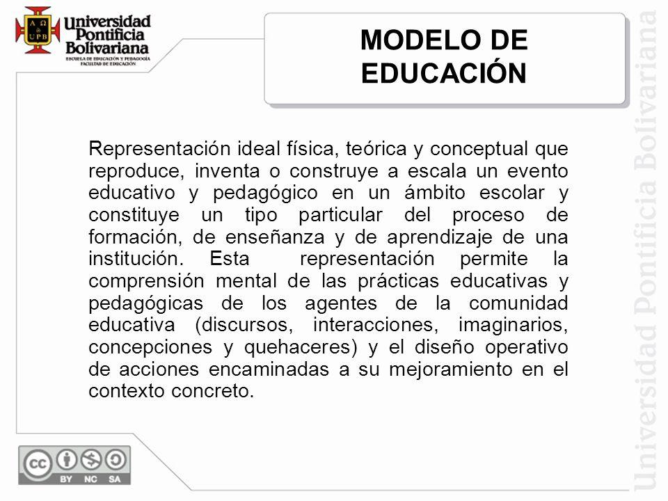 MODELO DE EDUCACIÓN.