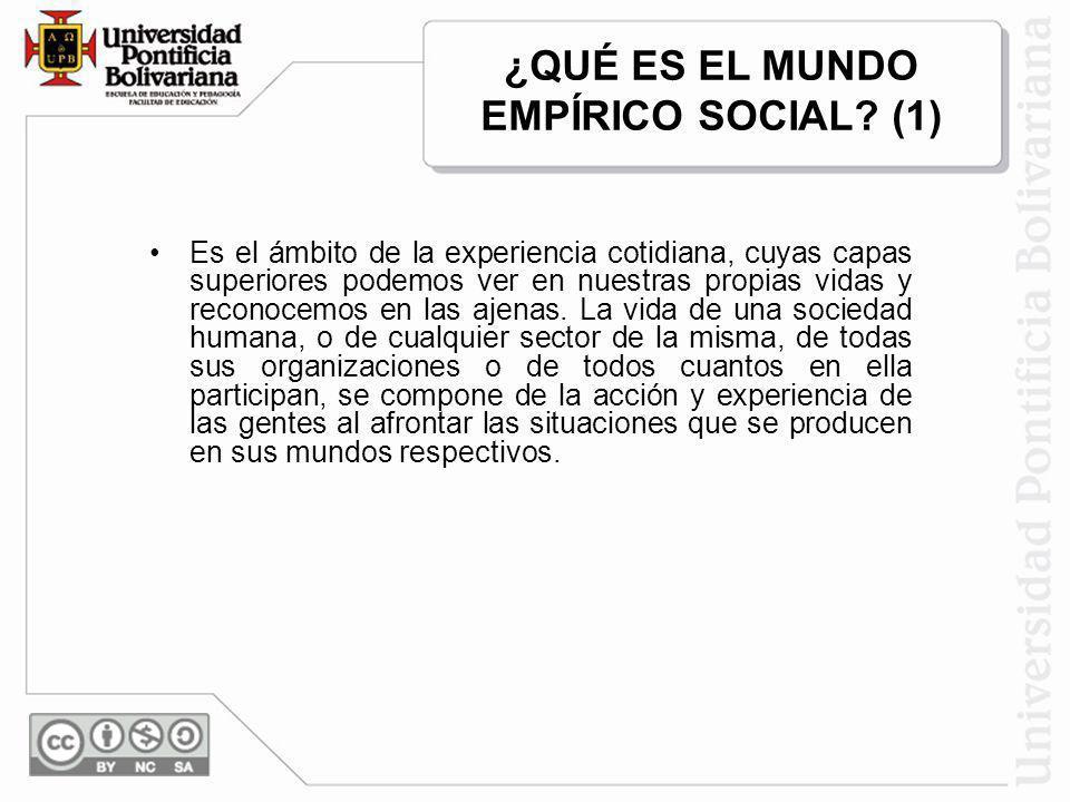 ¿QUÉ ES EL MUNDO EMPÍRICO SOCIAL (1)