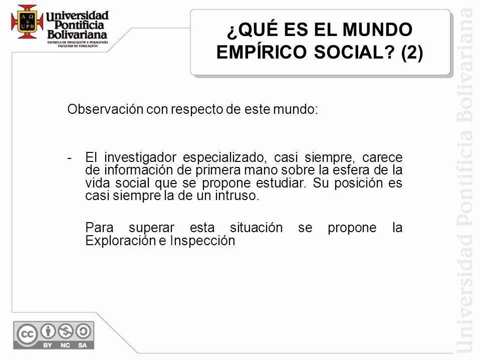 ¿QUÉ ES EL MUNDO EMPÍRICO SOCIAL (2)