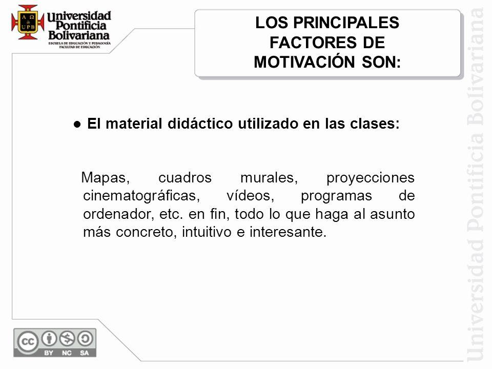 LOS PRINCIPALES FACTORES DE
