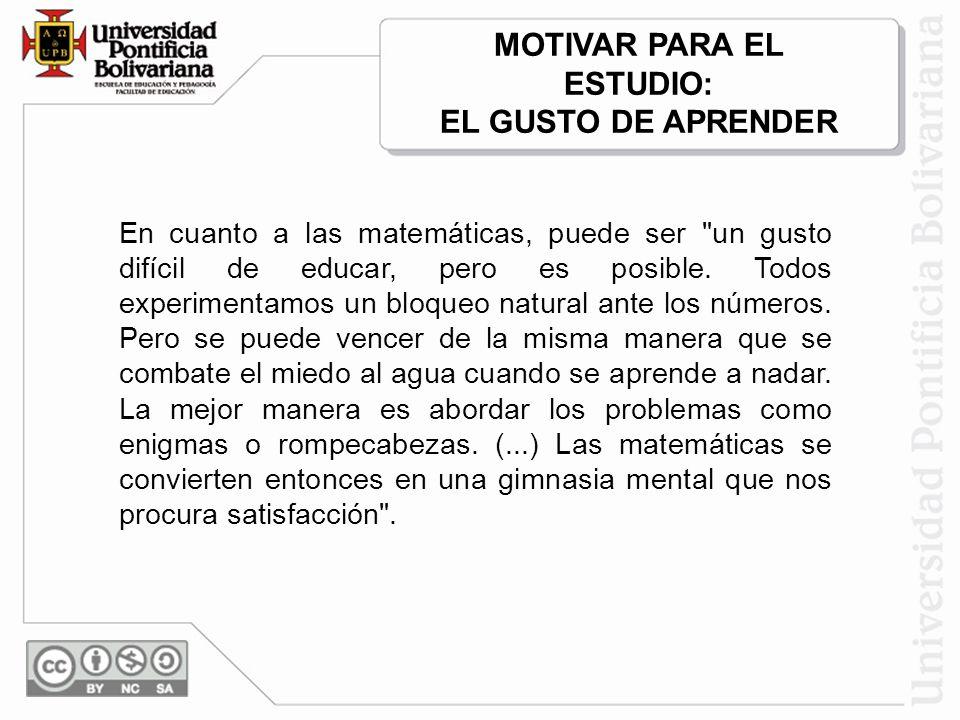 MOTIVAR PARA EL ESTUDIO: