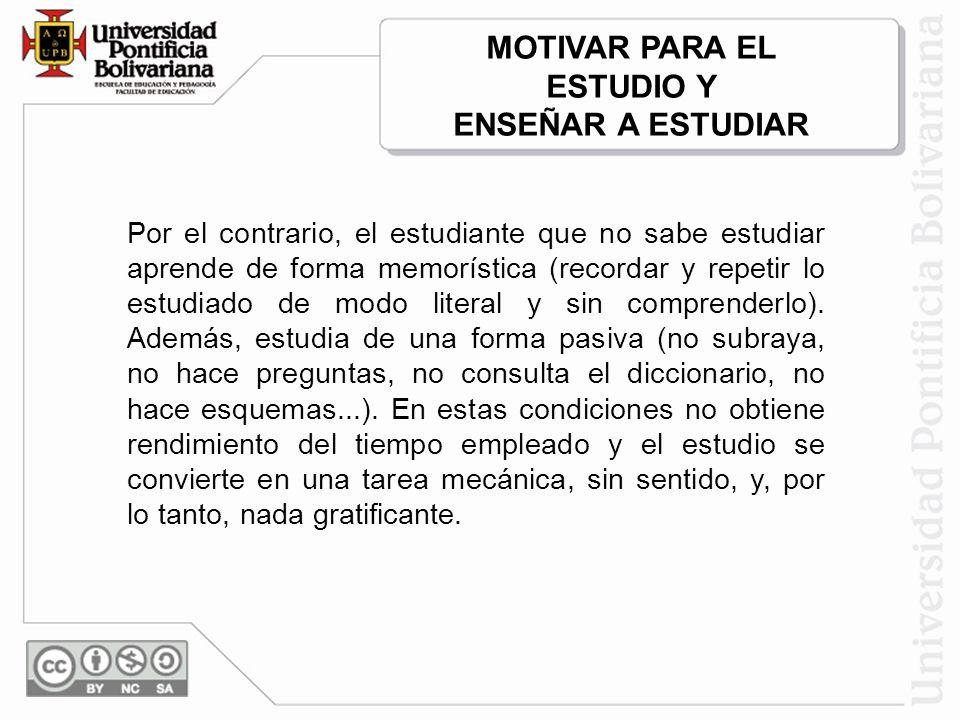 MOTIVAR PARA EL ESTUDIO Y