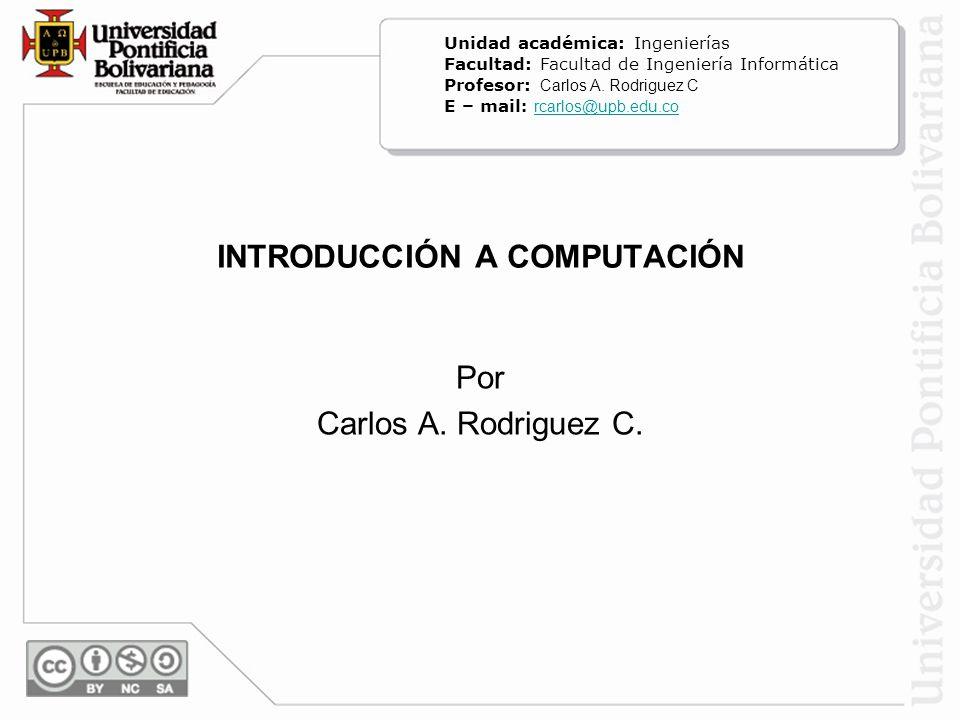 INTRODUCCIÓN A COMPUTACIÓN