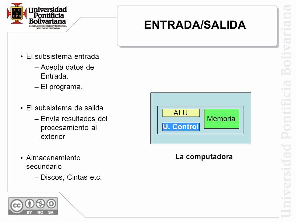 ENTRADA/SALIDA Entrada Salida El subsistema entrada