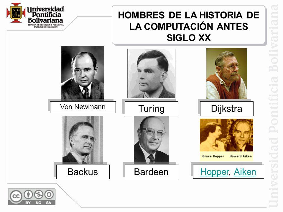 HOMBRES DE LA HISTORIA DE LA COMPUTACIÓN ANTES SIGLO XX