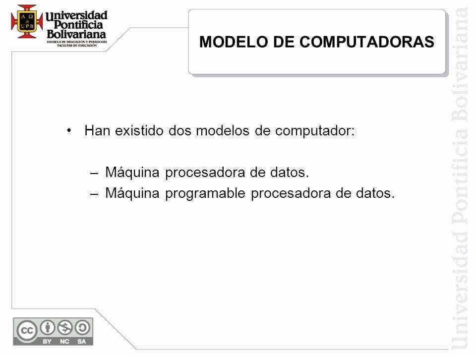 MODELO DE COMPUTADORAS