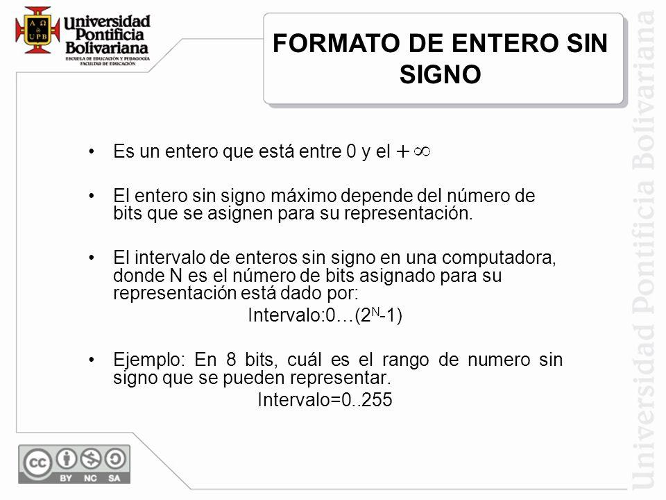 FORMATO DE ENTERO SIN SIGNO