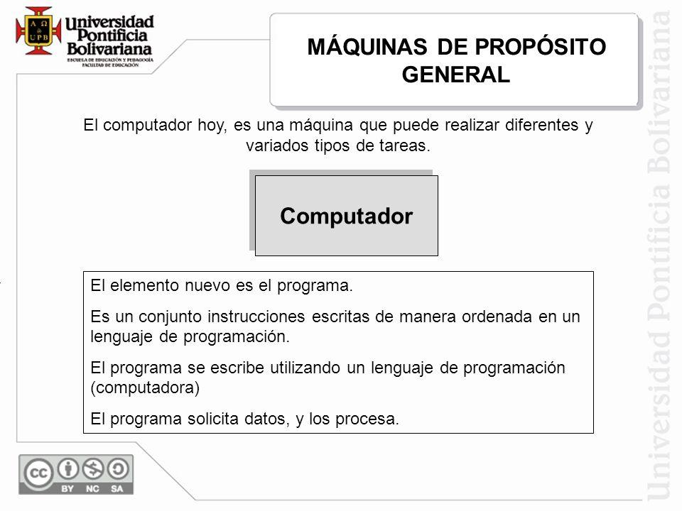 MÁQUINAS DE PROPÓSITO GENERAL