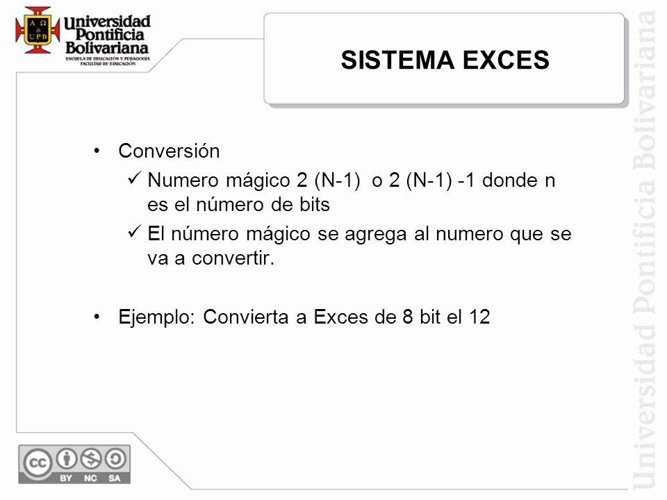 SISTEMA EXCES Conversión