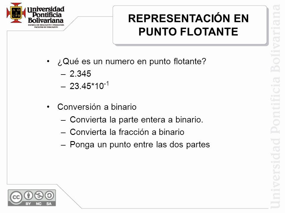 REPRESENTACIÓN EN PUNTO FLOTANTE
