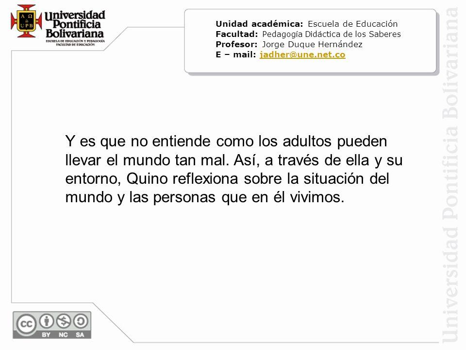 Unidad académica: Escuela de Educación