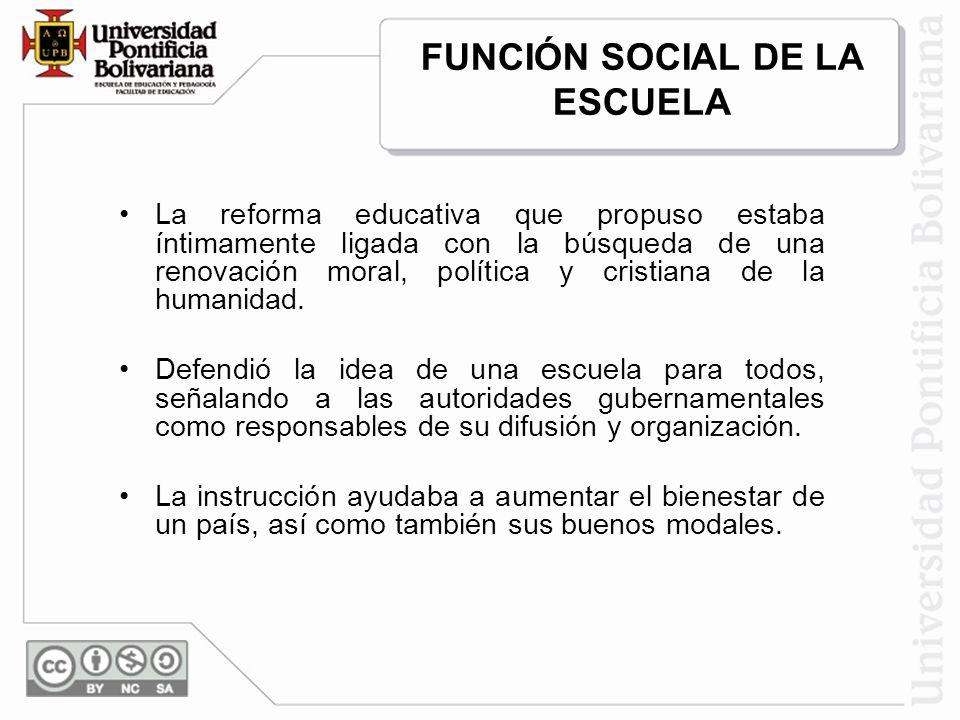 FUNCIÓN SOCIAL DE LA ESCUELA