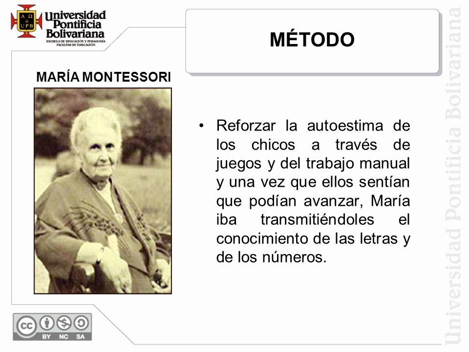 MÉTODO MARÍA MONTESSORI.