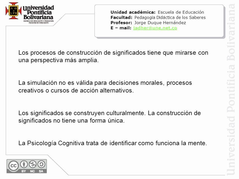 La Psicología Cognitiva trata de identificar como funciona la mente.