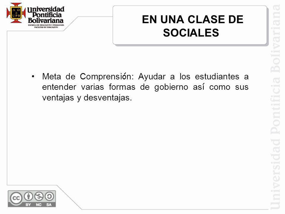 EN UNA CLASE DE SOCIALES