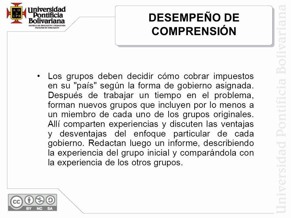 DESEMPEÑO DE COMPRENSIÓN