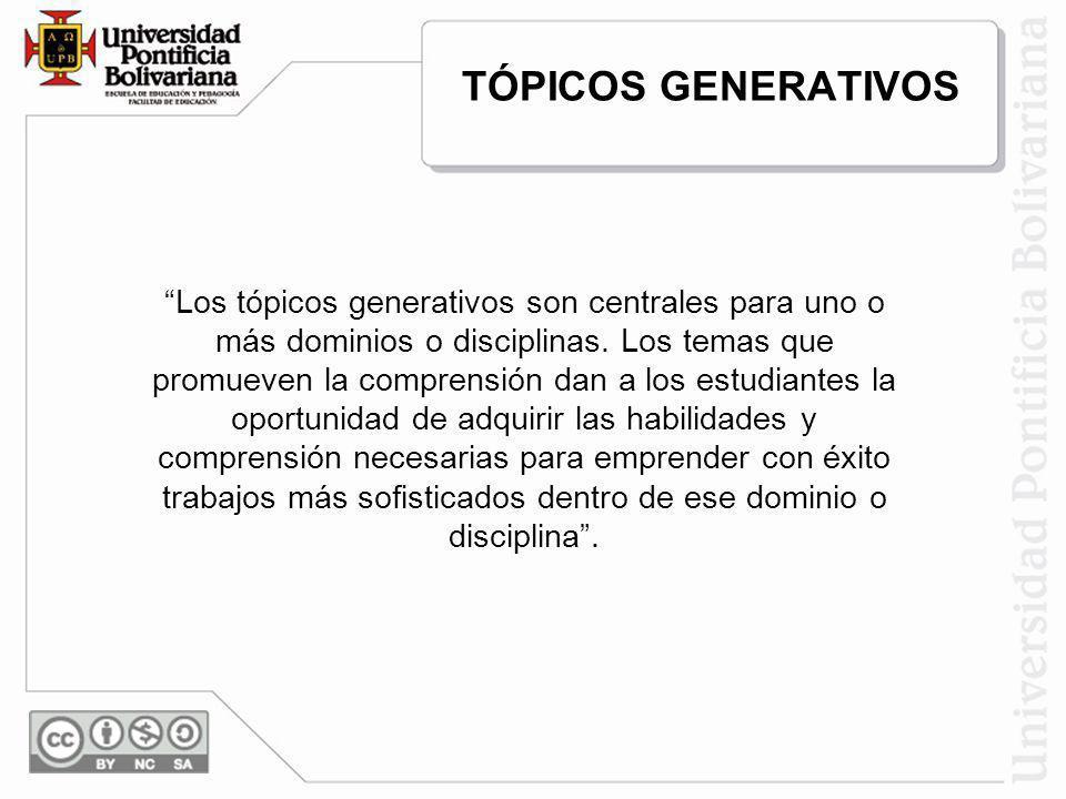 TÓPICOS GENERATIVOS