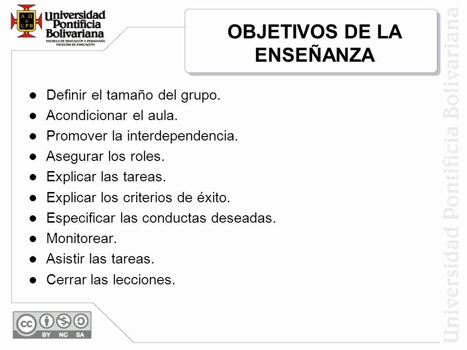 OBJETIVOS DE LA ENSEÑANZA