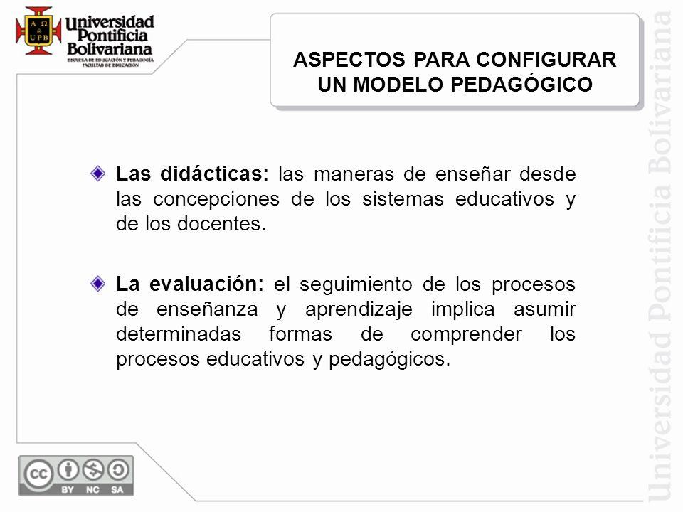 ASPECTOS PARA CONFIGURAR UN MODELO PEDAGÓGICO