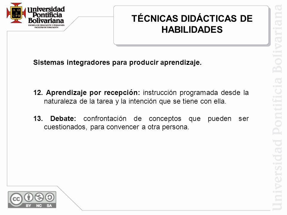 TÉCNICAS DIDÁCTICAS DE HABILIDADES