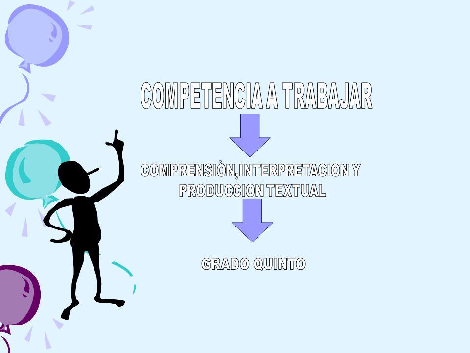 COMPETENCIA A TRABAJAR