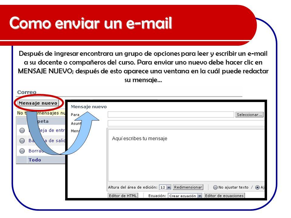 Como enviar un e-mail