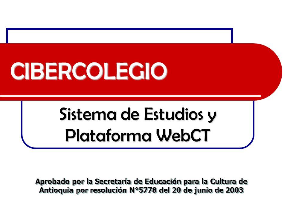 Sistema de Estudios y Plataforma WebCT