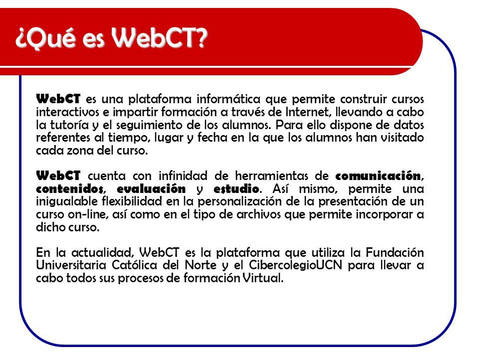 ¿Qué es WebCT