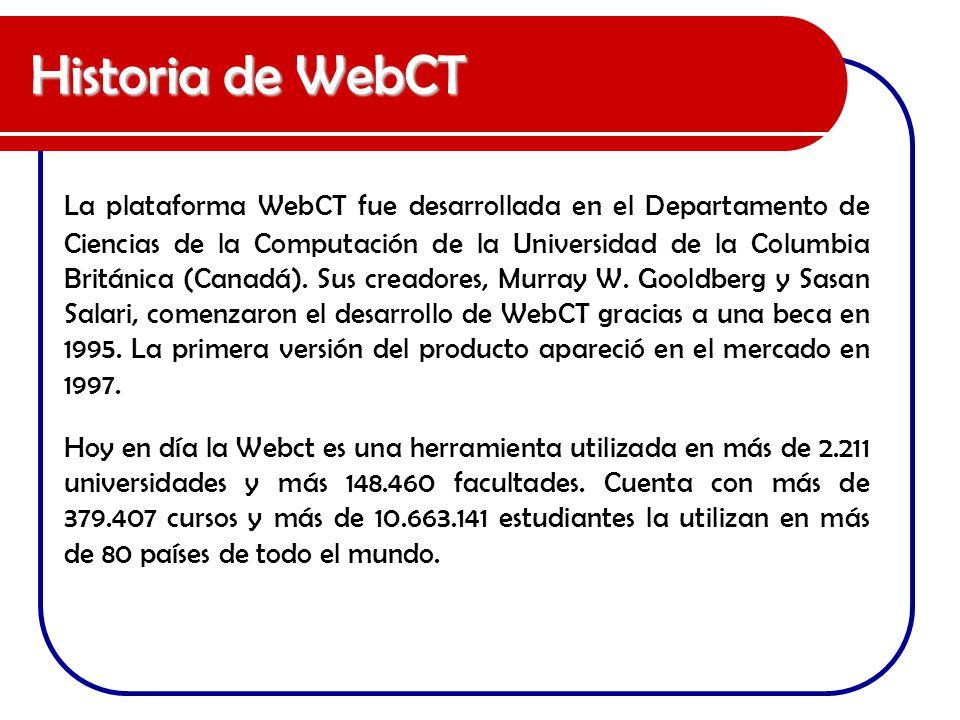 Historia de WebCT