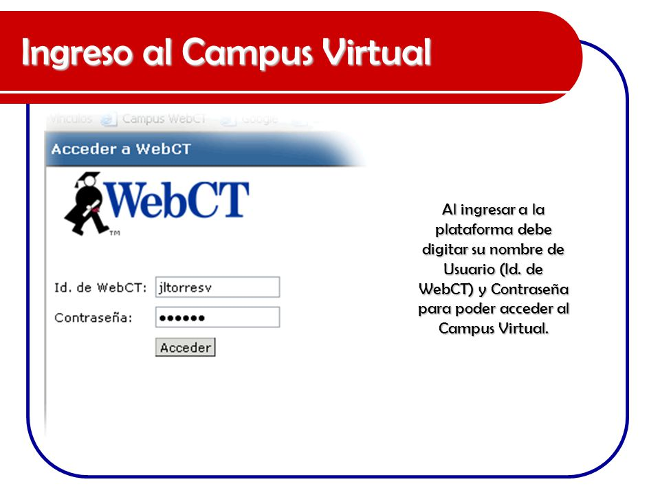 Ingreso al Campus Virtual