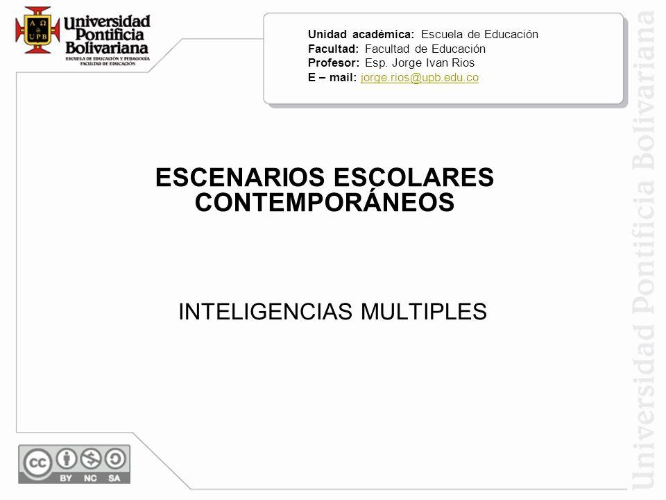 ESCENARIOS ESCOLARES CONTEMPORÁNEOS