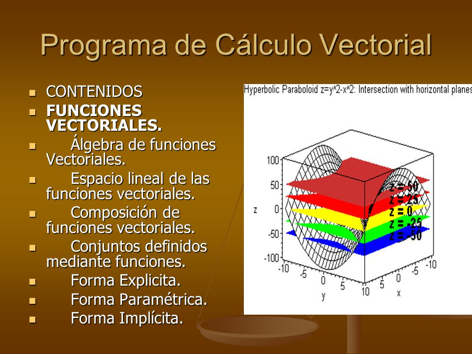 Programa de Cálculo Vectorial