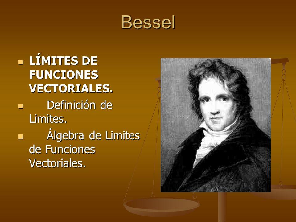 Bessel LÍMITES DE FUNCIONES VECTORIALES. Definición de Limites.