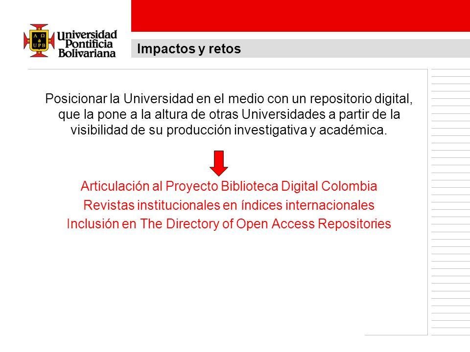 Articulación al Proyecto Biblioteca Digital Colombia