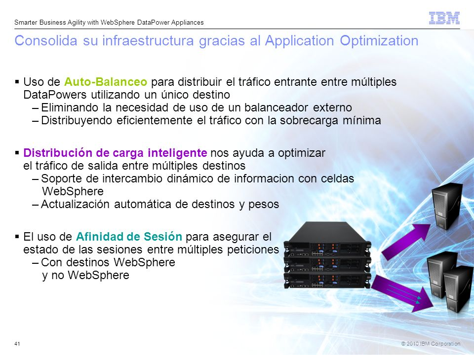 Consolida su infraestructura gracias al Application Optimization