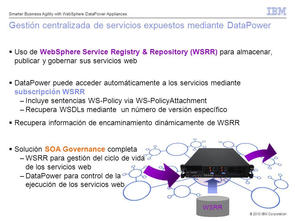 Gestión centralizada de servicios expuestos mediante DataPower