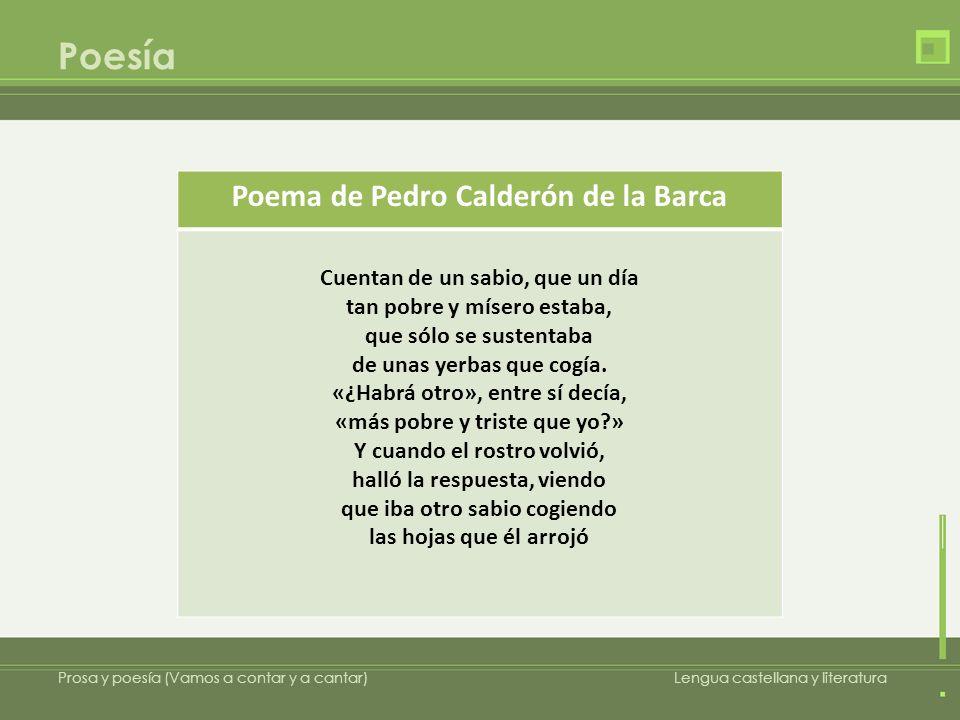 Poema de Pedro Calderón de la Barca