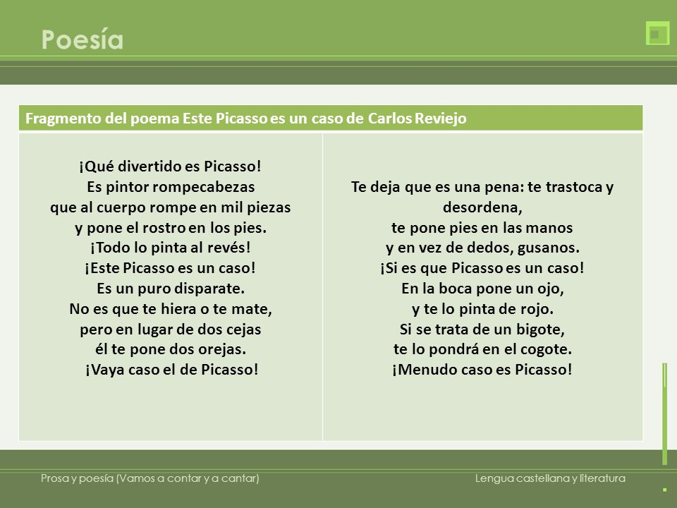 Poesía Fragmento del poema Este Picasso es un caso de Carlos Reviejo