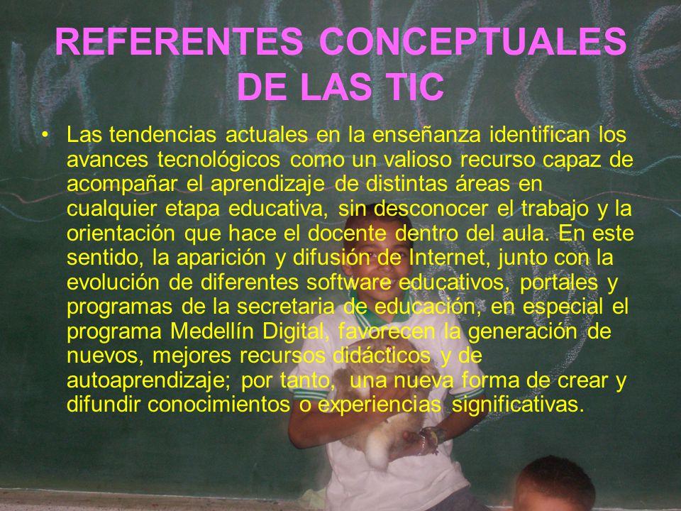 REFERENTES CONCEPTUALES DE LAS TIC