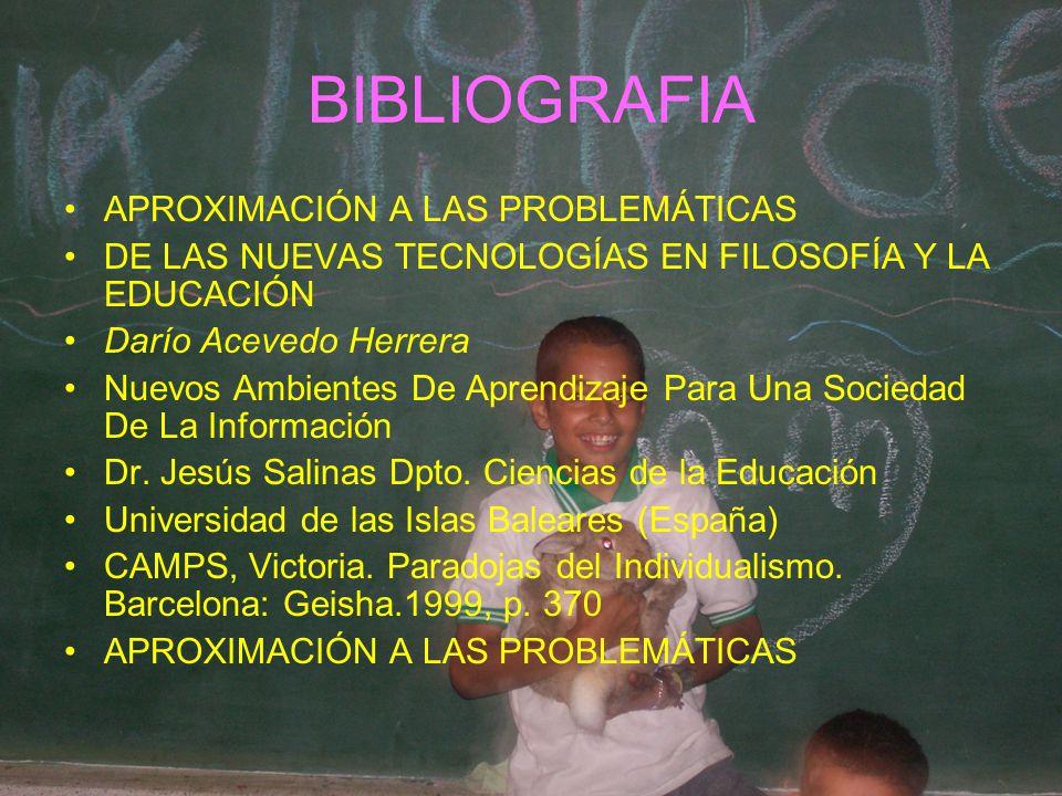 BIBLIOGRAFIA APROXIMACIÓN A LAS PROBLEMÁTICAS