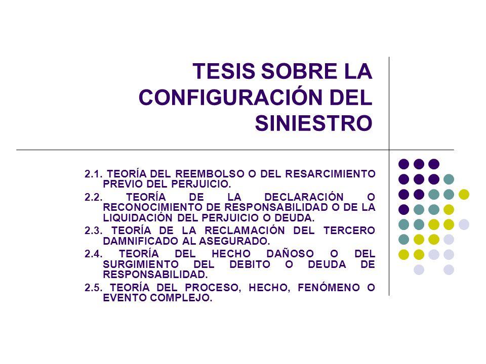 TESIS SOBRE LA CONFIGURACIÓN DEL SINIESTRO