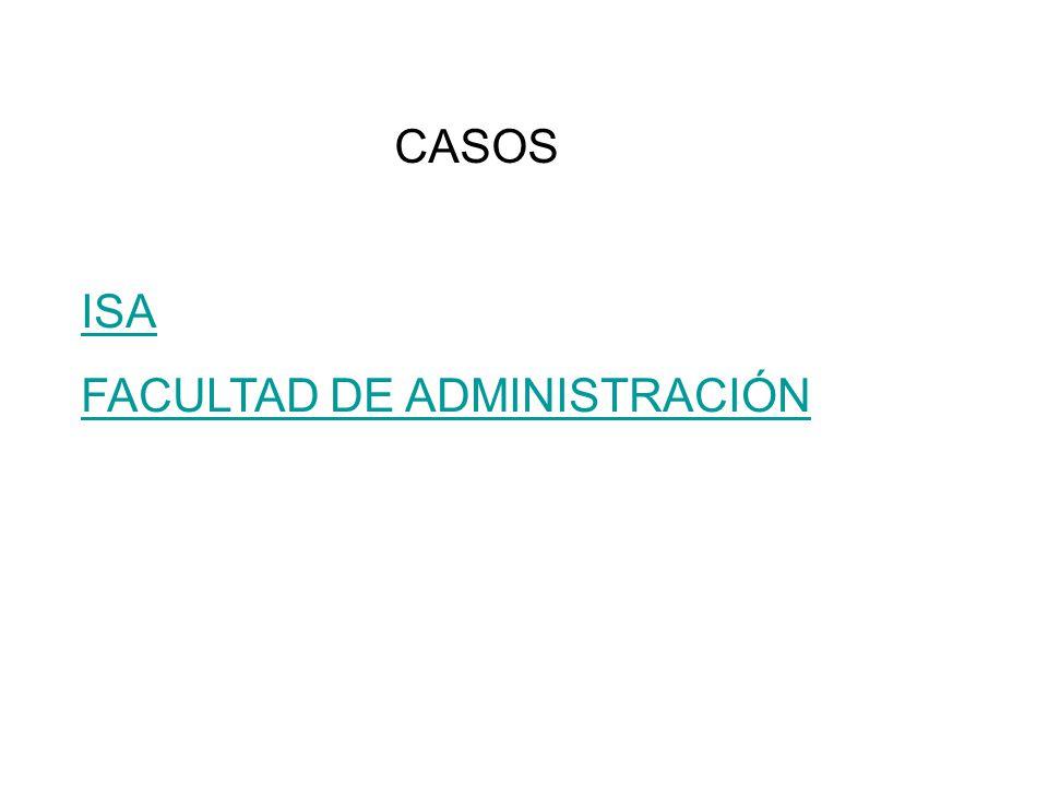 CASOS ISA FACULTAD DE ADMINISTRACIÓN