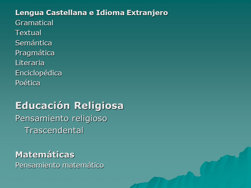 Educación Religiosa Pensamiento religioso Trascendental Matemáticas