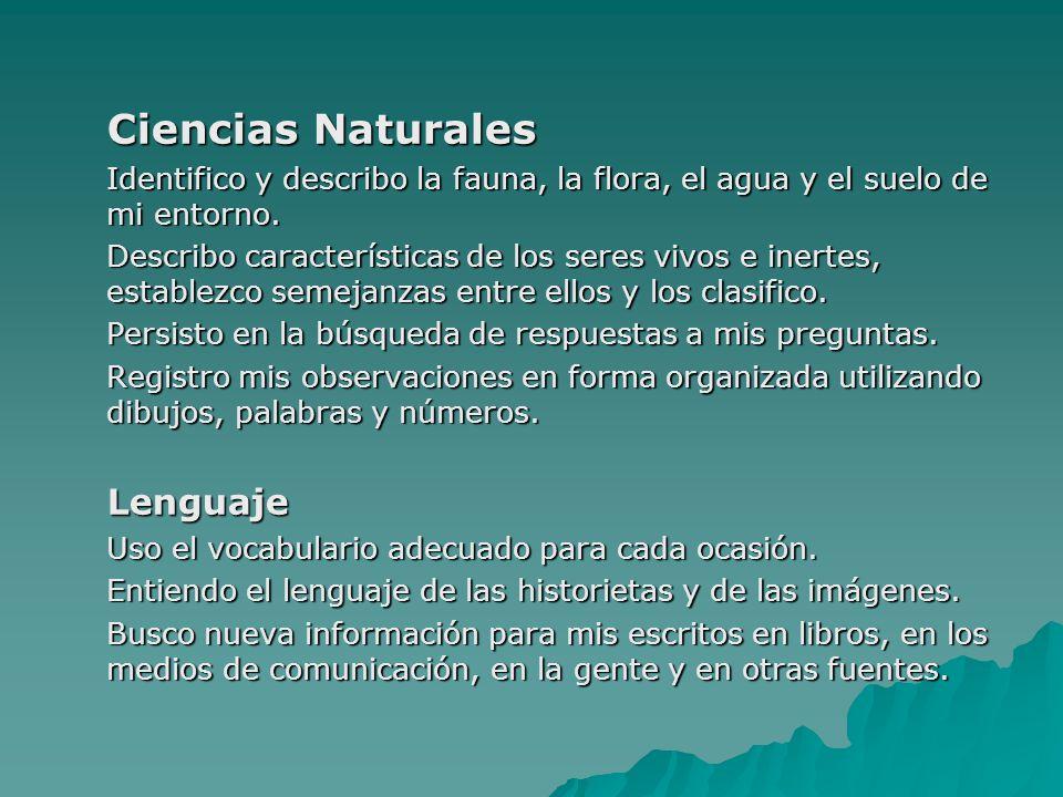 Ciencias Naturales Lenguaje