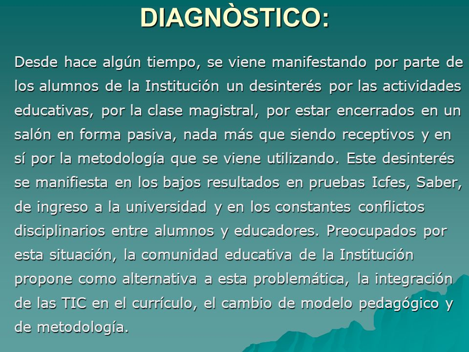 DIAGNÒSTICO: