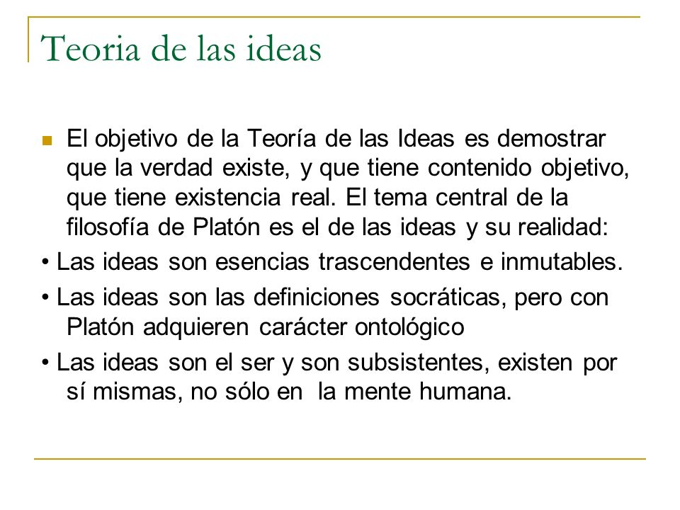 Teoria de las ideas