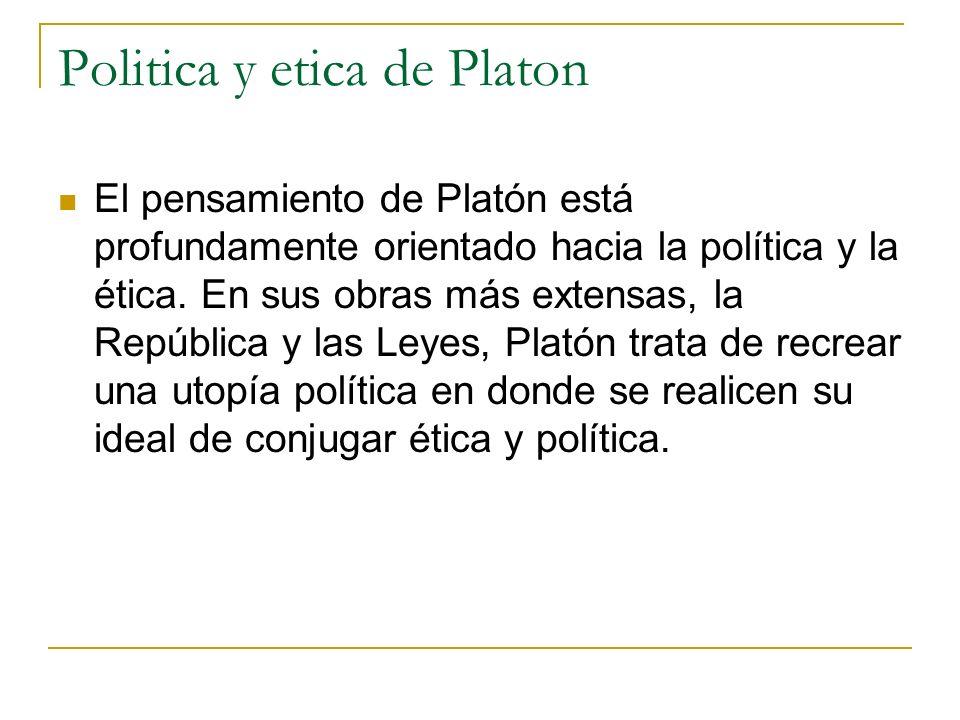Politica y etica de Platon